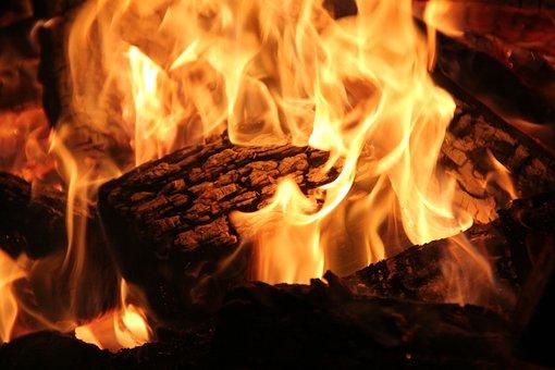 Open Fire, Fireplace, Fire, Wood, Burn, Blaze, Flame