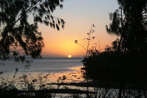 Sunset, New Caledonia, Relax, Travel, Sun Kisses Water