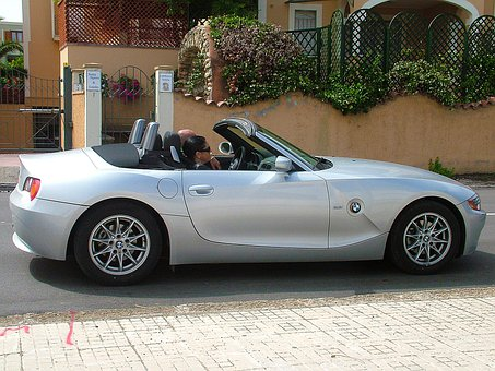 Convertible, Car, Bmw, Gray, Silver, Italy