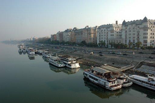 Boat, Ship, Budapest, Pest, River, Danube, Water