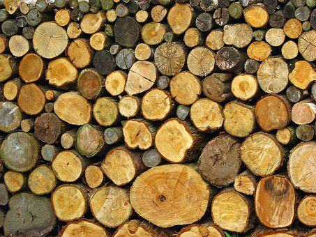 Log, Logs, Pile, Stack, Wood, Wooden, Close-up, Photo