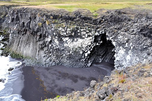 Iceland, Cliff, Búðardalur, Cave, Rock, Vukangestein