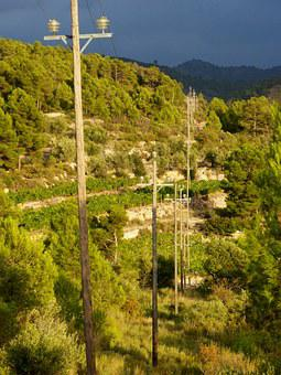 Power Line, Mountain, Bigas, Sticks