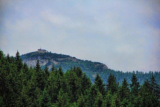 Mountain, Forest, Sky, Clouds, Nature, Landscape, Blue