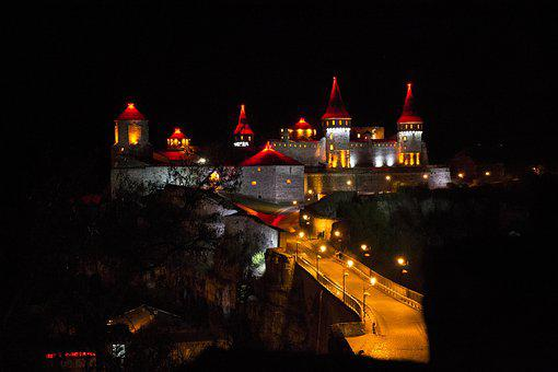 Kamenets-podolskiy, Night, Castle