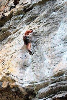Climb, Abseil, Climber, Wall, Rock Wall, Climbing Wall