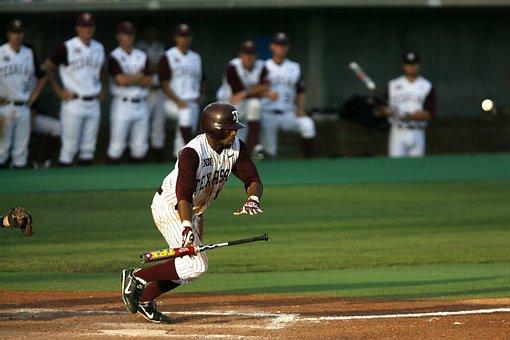 Baseball, Batter, Hit, Bat, Player, Game, Sport, Ball
