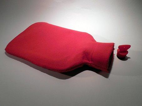 Hot Water Bottle, Warm, Sleep, Bellyache, Winter