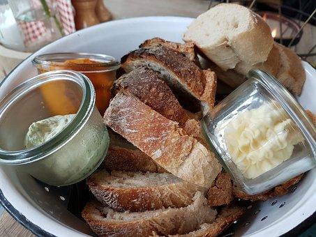 Breadbasket, Bread, Butter, Roughage, Delicious, Food