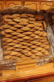 France, French, Confectioner's, Bakery, Pastry, Detail