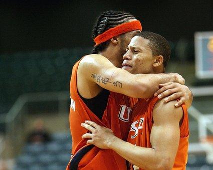 Basketball, Player, Emotion, Restraining, Calming, Game