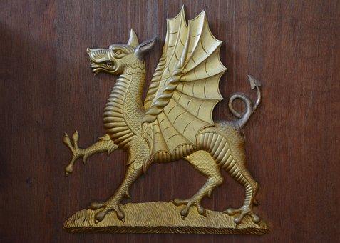Dragon, Emblem, Symbol, Head, Logo, Mascot, Ancient