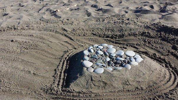 Beach, Heart, Filthy Rich, Love, Holiday, Sun, Sand