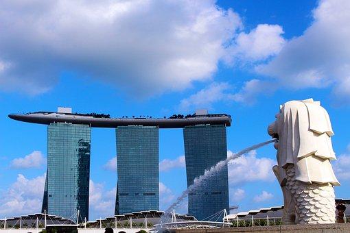 Merlion, Marina Bay Sands Hotel, Singapore