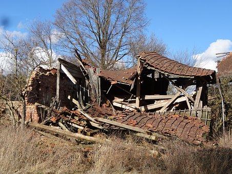 Ruin, Collapsed, Dump, Crash