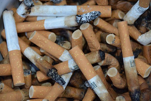 Cigarettes, Addiction, Garbage, Nicotine, Smoking