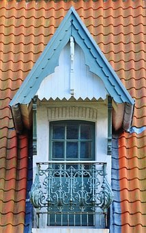 Roof Windows, Roof, Tile, Old, Roofs, Romantic, Balcony