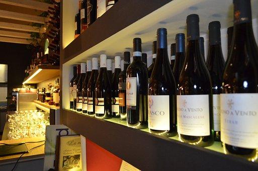 Wine, Bottle, Alcohol, Bottle Of Wine, Bar, Shelf