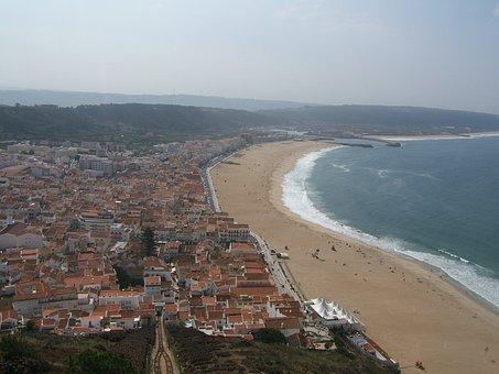 Obidos, Portugal, Ocean, Beach, Water, Sand, Sea
