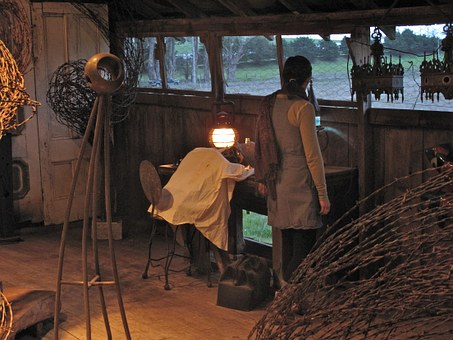 Artist's Workshop, Studio, Rustic, Interior, Windows