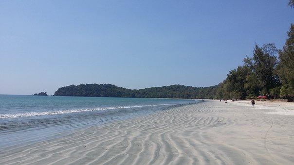 Ko Payam, Thailand, Booked, Beach, Sand, Sea, Water