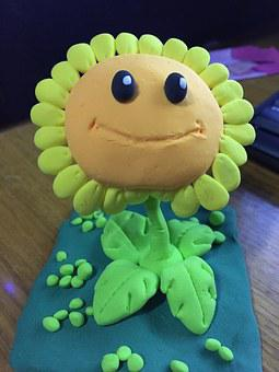 Sunflower, Clay Sculpture, Toys