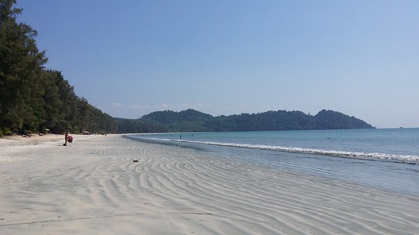Ko Payam, Beach, Sand, Sea, Water, Wave, Holiday