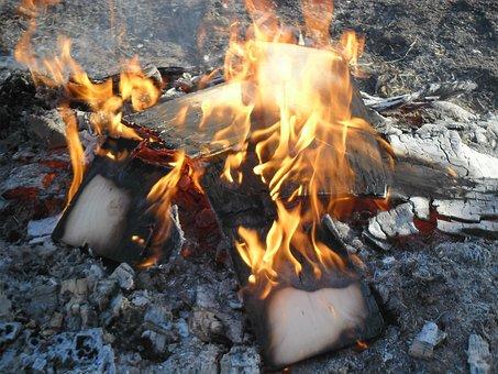 Campfire, Wood Fire, Fire, Wood, Flames, Brule