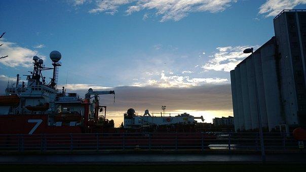 Leith Docks, Edinburgh, Landscape, Scotland, Sky