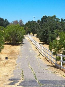 Country Road, Old Road, Fence, Countryside, Nature
