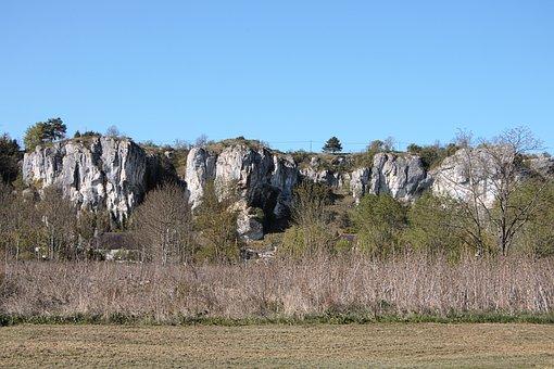 Burgundy, Rocks Saussois, Nature, The Nivernais Canal