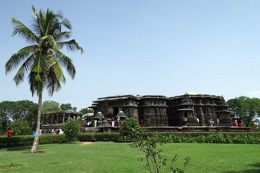 Temple, Hindu, Religion, Coconut Tree