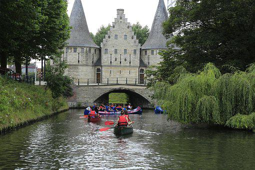 Ghent, Boat, Waterway, Belgium, Rafting, Tourist
