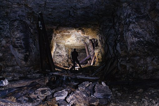 Gallery, Cave, Light, Cold, Stones