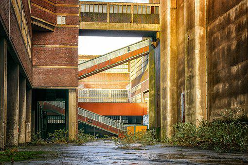 Lost Places, Factory, Architecture, Industrial Plant