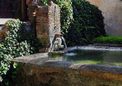 Antigua, Guatemala, Fountain, Basin, Water, History
