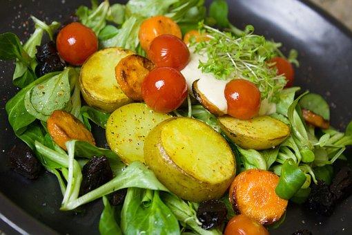 Potatoes, Tomatoes, Carrot, Carrots, Salad, Vegetables