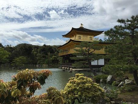 Kyoto, Temple Of The Golden Pavilion, Japan, Tourism