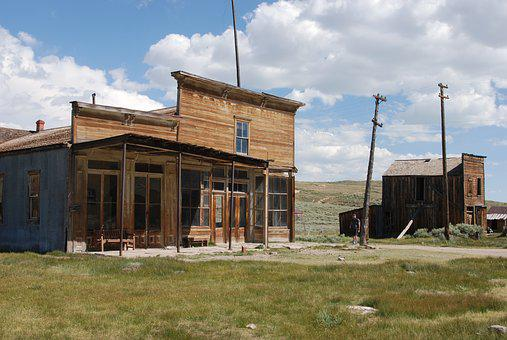 Bodie, California, Old, Village, Left, Ghost Town