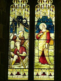 Window, Church Window, Church, Evangelists