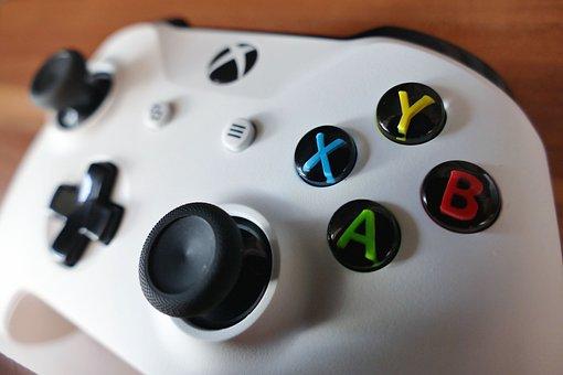 X Box, Console, Joypad, Activity, Blue, Button, Colour