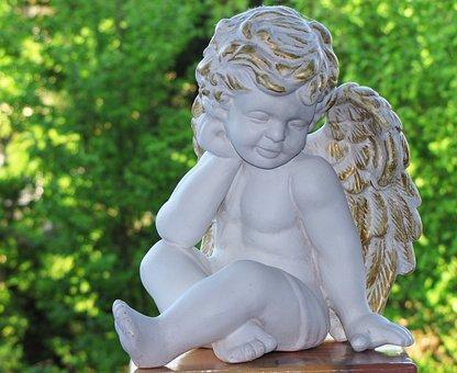 Angel, Harmony, Faith, Fig, Hope, Sculpture