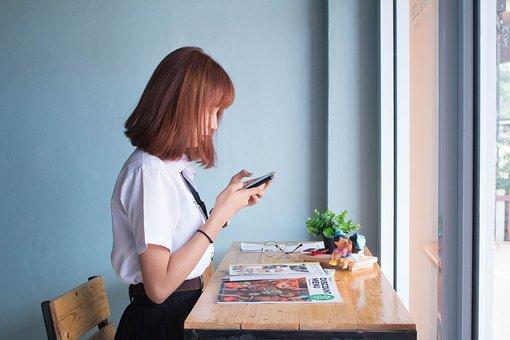 Girl, Women, Phone, Young, Social Network