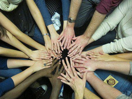 Hands, Community, Team Spirit