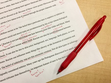Mistakes, Editing, School, Red Ink, Corrections