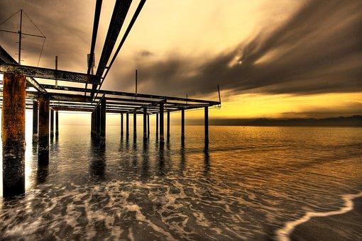 Fog, Landscape, Marine, Nature, Long Exposure, Water