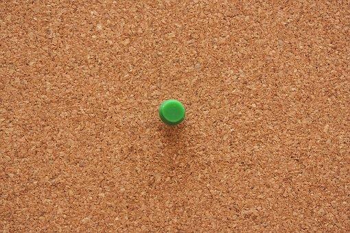 Mushroom, Square Cork Board, Paper, Straight Pin, Plate