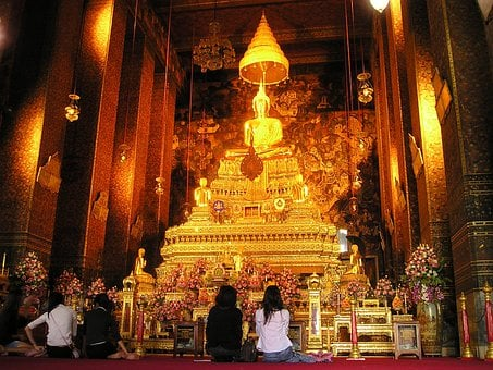 Thailand, Bangkok, Temple, Shrine, Gold, Altar