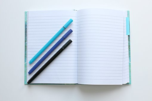 Notebook, Pens, Notes, Leave, Book, Diary, Office