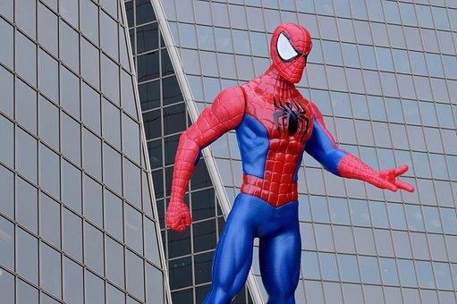 Spider Man, Superhero, Character, Building, Cartoon